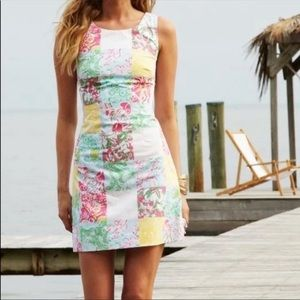 LILLY PULITZER Delia Patchwork Print Sheath Dress